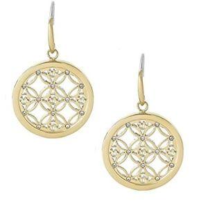 Michael Kors Heritage Monogram Dangle Earrings